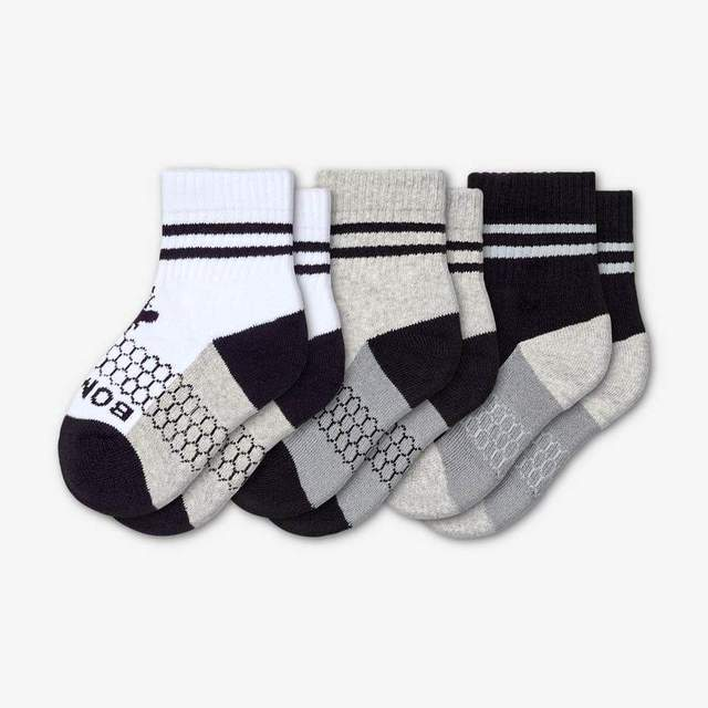 white-grey-black Toddler 3-Pack