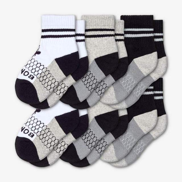 white-grey-black Toddler 6-Pack