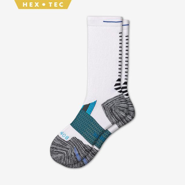 white-grey-blue Men's Performance Running Calf Sock