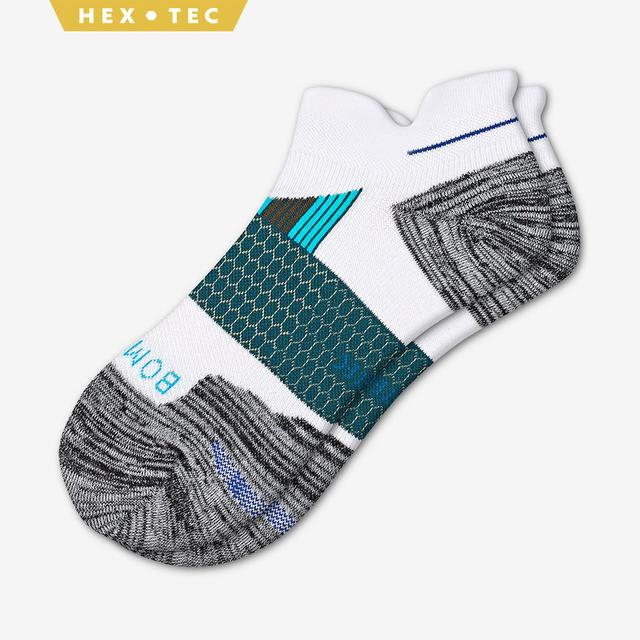 white-grey-blue Men's Performance Running Ankle Sock