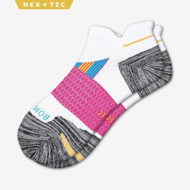 white-grey-pink Women's Performance Running Ankle Sock