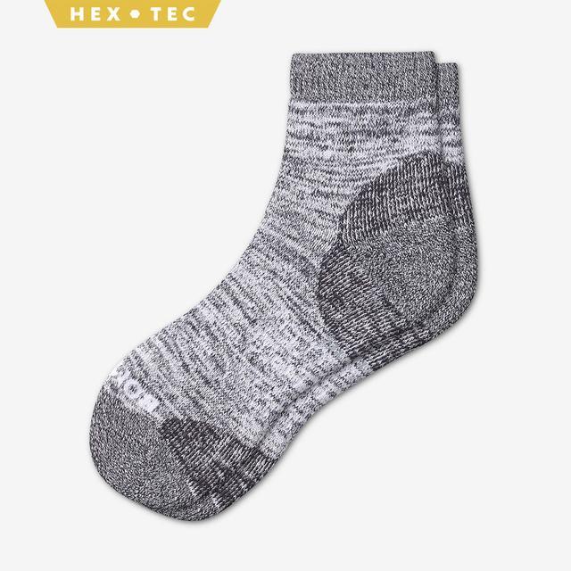 white Men's Hiking Quarter Socks