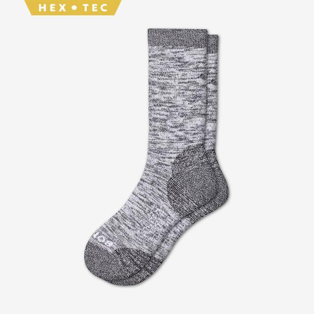 white Men's Hiking Calf Socks