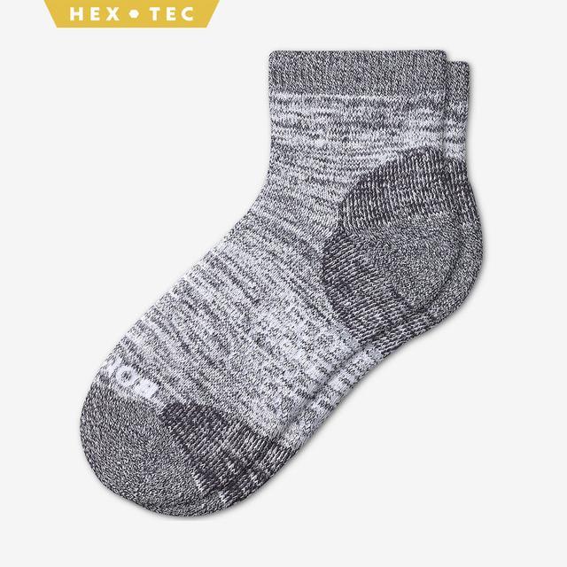 white Women's Hiking Quarter Socks