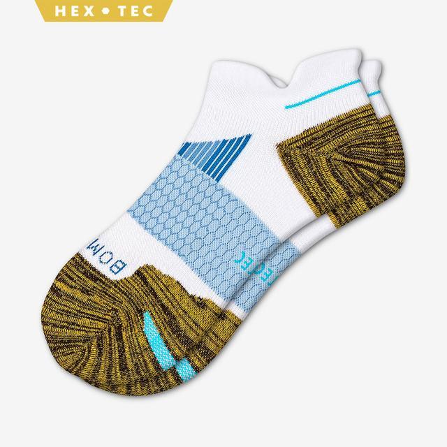 white-ochre-blue Men's Performance Running Ankle Sock